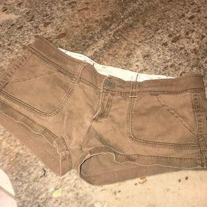 Women's Sz 3 Brown Hollister Shorts
